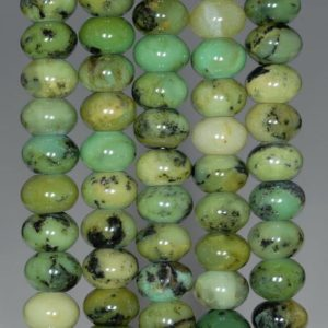 Shop Chrysoprase Rondelle Beads! 10X6MM Green Chrysoprase Gemstone Grade AA Rondelle Loose Beads 7.5 inch Half Strand (80000541 H-A72)   Natural genuine rondelle Chrysoprase beads for beading and jewelry making.  #jewelry #beads #beadedjewelry #diyjewelry #jewelrymaking #beadstore #beading #affiliate #ad