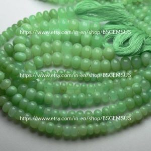 Shop Chrysoprase Rondelle Beads! 7 Inches Strand, Finest Quality, Natural Chrysoprase Smooth Rondelles, Size 6-8mm   Natural genuine rondelle Chrysoprase beads for beading and jewelry making.  #jewelry #beads #beadedjewelry #diyjewelry #jewelrymaking #beadstore #beading #affiliate #ad