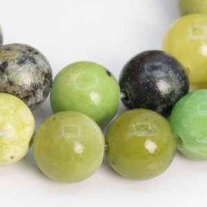 Shop Chrysoprase Round Beads! 46 / 22 Pcs – 8MM Chrysoprase / Australian Jade Beads Grade A Genuine Natural Round Gemstone Loose Beads (106714) | Natural genuine round Chrysoprase beads for beading and jewelry making.  #jewelry #beads #beadedjewelry #diyjewelry #jewelrymaking #beadstore #beading #affiliate #ad