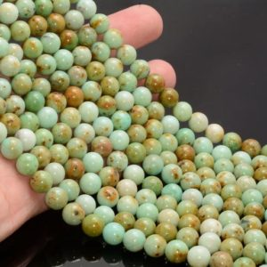 Shop Chrysoprase Round Beads! 8mm Genuine Light Green Chrysoprase Gemstone Grade Aaa Round 15 Inch Full Strand Bulk Lot 1, 2, 6, 12 And 50 (80007280-a252) | Natural genuine round Chrysoprase beads for beading and jewelry making.  #jewelry #beads #beadedjewelry #diyjewelry #jewelrymaking #beadstore #beading #affiliate #ad