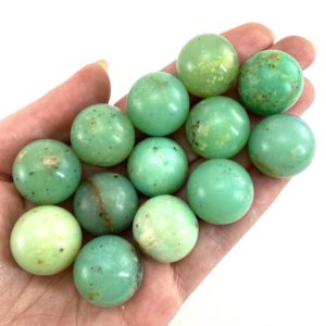 Shop Chrysoprase Stones & Crystals! Rare! Gem Chrysoprase Sphere, polished chrysoprase, crystal ball, crystal sphere, chrysoprase | Natural genuine stones & crystals in various shapes & sizes. Buy raw cut, tumbled, or polished gemstones for making jewelry or crystal healing energy vibration raising reiki stones. #crystals #gemstones #crystalhealing #crystalsandgemstones #energyhealing #affiliate #ad