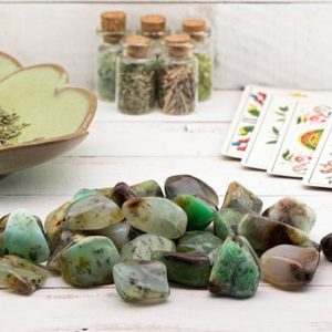 Shop Tumbled Chrysoprase Crystals & Pocket Stones! Chrysoprase Polished Tumbled Gemstone   Natural genuine stones & crystals in various shapes & sizes. Buy raw cut, tumbled, or polished gemstones for making jewelry or crystal healing energy vibration raising reiki stones. #crystals #gemstones #crystalhealing #crystalsandgemstones #energyhealing #affiliate #ad