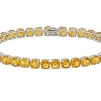 Natural Citrine Tennis Bracelet In Sterling Silver Tennis Bracelet Women Bracelet, november Birthstone Gift For Her | Natural genuine Gemstone jewelry. Buy crystal jewelry, handmade handcrafted artisan jewelry for women.  Unique handmade gift ideas. #jewelry #beadedjewelry #beadedjewelry #gift #shopping #handmadejewelry #fashion #style #product #jewelry #affiliate #ad