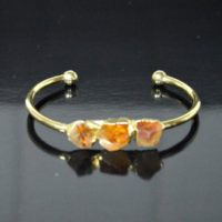 Raw Citrine Cuff Bracelet   Gold Bangle, Rough Stone, Citrine Jewelry, Raw Gemst   Natural genuine Gemstone jewelry. Buy crystal jewelry, handmade handcrafted artisan jewelry for women.  Unique handmade gift ideas. #jewelry #beadedjewelry #beadedjewelry #gift #shopping #handmadejewelry #fashion #style #product #jewelry #affiliate #ad