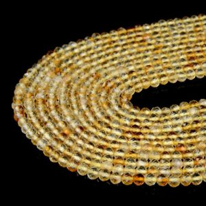 Shop Citrine Faceted Beads! Natural Citrine Gemstone Grade AAA Micro Faceted Round 2MM 3MM Loose Beads (P10) | Natural genuine faceted Citrine beads for beading and jewelry making.  #jewelry #beads #beadedjewelry #diyjewelry #jewelrymaking #beadstore #beading #affiliate #ad