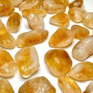 Shop Citrine Stones & Crystals! Citrine Tumbled Stones | Natural genuine stones & crystals in various shapes & sizes. Buy raw cut, tumbled, or polished gemstones for making jewelry or crystal healing energy vibration raising reiki stones. #crystals #gemstones #crystalhealing #crystalsandgemstones #energyhealing #affiliate #ad