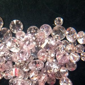 Shop Faceted Gemstone Beads! 1-2mm Pink Round Brilliant Cut Melee Diamond Tiny Solitaire Faceted Natural Loose Accent Diamonds For Jewelry(10Pcs To 40 Pcs Option)-DS3621 | Natural genuine faceted Gemstone beads for beading and jewelry making.  #jewelry #beads #beadedjewelry #diyjewelry #jewelrymaking #beadstore #beading #affiliate #ad