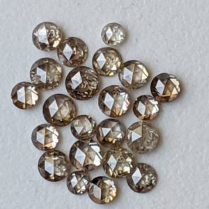 Shop Diamond Faceted Beads! 2-3mm Light Champagne Rose Cut Diamond, Rare Natural Rose Cut Diamond Cabochon, Faceted Diamond, Rose Cut Diamond For Jewelry (2Pc To 4Pc) | Natural genuine faceted Diamond beads for beading and jewelry making.  #jewelry #beads #beadedjewelry #diyjewelry #jewelrymaking #beadstore #beading #affiliate #ad