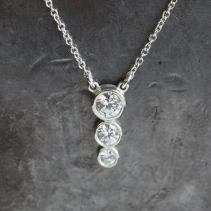Shop Diamond Necklaces! Gold Bridesmaid Back Necklace, Diamond Lariat, Silver Delicate Drop Necklace, Rose Dainty Bridal Jewelry, Mother's Crystal Necklace Gift   Natural genuine Diamond necklaces. Buy handcrafted artisan wedding jewelry.  Unique handmade bridal jewelry gift ideas. #jewelry #beadednecklaces #gift #crystaljewelry #shopping #handmadejewelry #wedding #bridal #necklaces #affiliate #ad
