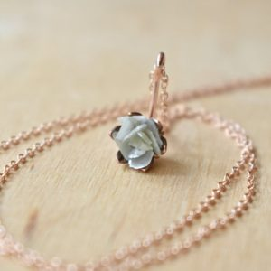 Shop Diamond Pendants! Raw Diamond Gemstone and 14K Rose Gold Fill Necklace, Pink Gold Flower Pendant, Blooming Lotus Flower Jewelry, Unique One of a Kind Jewelry | Natural genuine Diamond pendants. Buy crystal jewelry, handmade handcrafted artisan jewelry for women.  Unique handmade gift ideas. #jewelry #beadedpendants #beadedjewelry #gift #shopping #handmadejewelry #fashion #style #product #pendants #affiliate #ad