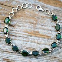 Chrome Diopside Bracelet – Chrome Diopside Bracelet – Chrome Diopside Bezel Bracelet – Green Chrome Diopside -bracelet – Sterling Silver | Natural genuine Gemstone jewelry. Buy crystal jewelry, handmade handcrafted artisan jewelry for women.  Unique handmade gift ideas. #jewelry #beadedjewelry #beadedjewelry #gift #shopping #handmadejewelry #fashion #style #product #jewelry #affiliate #ad
