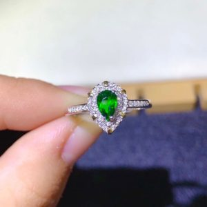 Shop Diopside Rings! Dainty Chrome Diopside Ring   Green Pear Gemstone Ring   Sterling Silver Ring   Promise ring   Women's Ring Everyday Wear   Gift for Her   Natural genuine Diopside rings, simple unique handcrafted gemstone rings. #rings #jewelry #shopping #gift #handmade #fashion #style #affiliate #ad
