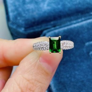 Shop Diopside Rings! Hot Sale Gift   Handmade Diopside Ring   925 Sterling Silver Ring   Genuine Green Stone   Personalized Ring   Freeing Shipping   Engraving   Natural genuine Diopside rings, simple unique handcrafted gemstone rings. #rings #jewelry #shopping #gift #handmade #fashion #style #affiliate #ad
