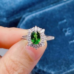 Shop Diopside Rings! Natural Diopside Ring, Handmade 925 Sterling Silver Ring, Oval Diopside Green Gemstone Ring, Statement Ring, Personalized Gift, Jewelry Gift   Natural genuine Diopside rings, simple unique handcrafted gemstone rings. #rings #jewelry #shopping #gift #handmade #fashion #style #affiliate #ad