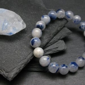 Shop Dumortierite Bracelets! Dumortierite In Quartz Genuine Bracelet ~ 7 Inches ~ 10mm Round Beads | Natural genuine Dumortierite bracelets. Buy crystal jewelry, handmade handcrafted artisan jewelry for women.  Unique handmade gift ideas. #jewelry #beadedbracelets #beadedjewelry #gift #shopping #handmadejewelry #fashion #style #product #bracelets #affiliate #ad