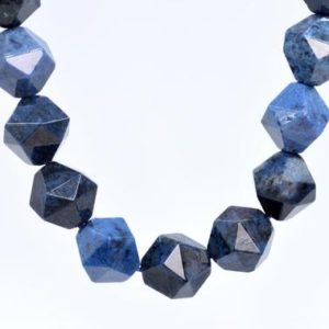 Shop Dumortierite Beads! 37 / 18 Pcs – 9-10MM Blue Dumortierite Beads Grade AAA Star Cut Faceted Genuine Natural Gemstone Loose Beads (105597) | Natural genuine faceted Dumortierite beads for beading and jewelry making.  #jewelry #beads #beadedjewelry #diyjewelry #jewelrymaking #beadstore #beading #affiliate #ad