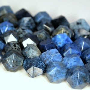 """Shop Dumortierite Beads! 6MM South Africa Dumortierite Beads Star Cut Faceted Grade AA Genuine Natural Gemstone Beads 7.5"""" BULK LOT 1,3,5,10 and 50 (80006138 H-M26) 