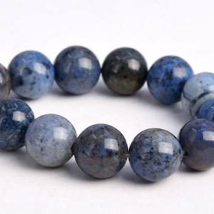 """Shop Dumortierite Beads! 9-10MM South Africa Blue Dumortierite Beads Grade AAA Genuine Natural Gemstone Round Loose Beads 7.5"""" BULK LOT 1,3,5,10 and 50 (103014h-653) 