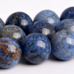 """Shop Dumortierite Beads! 9-10MM South Africa Blue Dumortierite Beads Grade AAA Genuine Natural Gemstone Round Loose Beads 15.5"""" BULK LOT 1,3,5,10 and 50 (103014-653) 