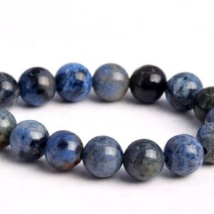 """Shop Dumortierite Beads! 6MM South Africa Blue Dumortierite Beads Grade AAA Genuine Natural Gemstone Round Loose Beads 7.5"""" BULK LOT 1,3,5,10 and 50 (103013h-653) 