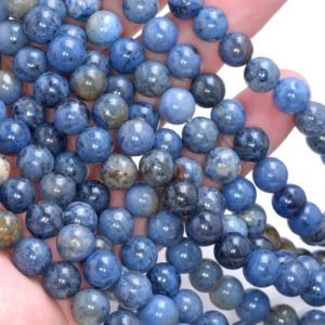 Shop Dumortierite Beads! 8mm South Africa Dumortierite Dark Blue Gemstone Blue Round 8mm Loose Beads 15.5 inch Full Strand LOT 1,2,6,12 and 50 (80005260-460) | Natural genuine round Dumortierite beads for beading and jewelry making.  #jewelry #beads #beadedjewelry #diyjewelry #jewelrymaking #beadstore #beading #affiliate #ad