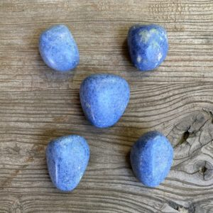 Shop Dumortierite Stones & Crystals! Dumortierite pebbles WS9565 and WS9564 | Natural genuine stones & crystals in various shapes & sizes. Buy raw cut, tumbled, or polished gemstones for making jewelry or crystal healing energy vibration raising reiki stones. #crystals #gemstones #crystalhealing #crystalsandgemstones #energyhealing #affiliate #ad