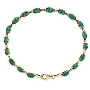 """Shop Emerald Bracelets! Beautiful 10ctw Emerald 14k Gold Bracelet 7.25"""" Trending Jewelry Gift Wife Mother Bride Fiance Valentine August Birthstone   Natural genuine Emerald bracelets. Buy crystal jewelry, handmade handcrafted artisan jewelry for women.  Unique handmade gift ideas. #jewelry #beadedbracelets #beadedjewelry #gift #shopping #handmadejewelry #fashion #style #product #bracelets #affiliate #ad"""