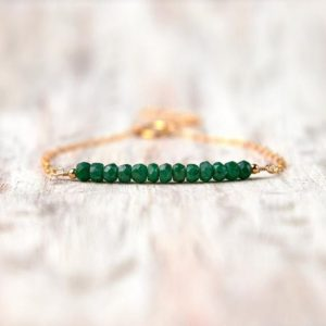 Shop Emerald Bracelets! Emerald bracelet gold filled May birthstone jewelry May birthday gift for mom Healing emerald jewelry Mothers gifts for mom Crystal bracelet   Natural genuine Emerald bracelets. Buy crystal jewelry, handmade handcrafted artisan jewelry for women.  Unique handmade gift ideas. #jewelry #beadedbracelets #beadedjewelry #gift #shopping #handmadejewelry #fashion #style #product #bracelets #affiliate #ad
