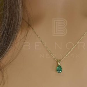 Shop Emerald Pendants! Natural Pear Shape Emerald Pendant in 14k Gold   May Birthstone   Fine Jewelry   Handmade jewelry   Gold pendant   Gift for her   Natural genuine Emerald pendants. Buy crystal jewelry, handmade handcrafted artisan jewelry for women.  Unique handmade gift ideas. #jewelry #beadedpendants #beadedjewelry #gift #shopping #handmadejewelry #fashion #style #product #pendants #affiliate #ad