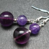 Simple Yet Vivaciously Lovely 8 – 12mm Fluorite Beads Dangle Earrings | Natural genuine Gemstone jewelry. Buy crystal jewelry, handmade handcrafted artisan jewelry for women.  Unique handmade gift ideas. #jewelry #beadedjewelry #beadedjewelry #gift #shopping #handmadejewelry #fashion #style #product #jewelry #affiliate #ad