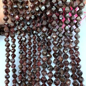 Shop Garnet Bead Shapes! Dark Red Garnet Star Cut Faceted Beads 6mm 8mm,Natural Garnet Gemstone Rose Cut Beads,Faceted Garnet Focal Beads SGeometric Cut Spacer Beads | Natural genuine other-shape Garnet beads for beading and jewelry making.  #jewelry #beads #beadedjewelry #diyjewelry #jewelrymaking #beadstore #beading #affiliate #ad