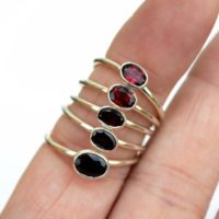 Garnet Ring   Hand Formed Ring   Sterling Silver Ring   Unique Ring   Rough Gemstone Ring   Rough Garnet Ring   Birthstone Ring   Simple   Natural genuine Gemstone jewelry. Buy crystal jewelry, handmade handcrafted artisan jewelry for women.  Unique handmade gift ideas. #jewelry #beadedjewelry #beadedjewelry #gift #shopping #handmadejewelry #fashion #style #product #jewelry #affiliate #ad