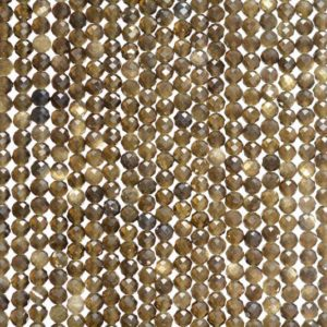 Shop Golden Obsidian Beads! 2MM  Golden Obsidian Gemstone Grade AAA Micro Faceted Round Loose Beads 15.5 inch Full Strand (80010199-A193) | Natural genuine faceted Golden Obsidian beads for beading and jewelry making.  #jewelry #beads #beadedjewelry #diyjewelry #jewelrymaking #beadstore #beading #affiliate #ad