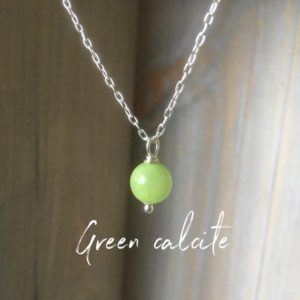 Shop Calcite Necklaces! Green calcite gemstone necklace~healing gemstone pendant~ gemstone layering necklace~dainty necklace~ silver and gemstone necklace | Natural genuine Calcite necklaces. Buy crystal jewelry, handmade handcrafted artisan jewelry for women.  Unique handmade gift ideas. #jewelry #beadednecklaces #beadedjewelry #gift #shopping #handmadejewelry #fashion #style #product #necklaces #affiliate #ad