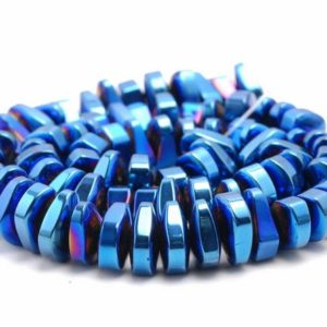 Shop Hematite Chip & Nugget Beads! 12X5MM Blue Hematite Gemstone Nugget Loose Beads 15.5 inch Full Strand (80000186-A43) | Natural genuine chip Hematite beads for beading and jewelry making.  #jewelry #beads #beadedjewelry #diyjewelry #jewelrymaking #beadstore #beading #affiliate #ad