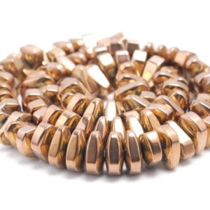 Shop Hematite Chip & Nugget Beads! 12X5MM Bronze Hematite Gemstone Nugget Loose Beads 15.5 inch Full Strand (80000183-A42) | Natural genuine chip Hematite beads for beading and jewelry making.  #jewelry #beads #beadedjewelry #diyjewelry #jewelrymaking #beadstore #beading #affiliate #ad