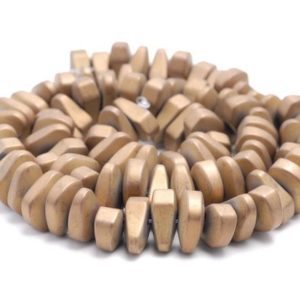 Shop Hematite Chip & Nugget Beads! 12X5MM Matte Bronze Hematite Gemstone Nugget Loose Beads 15.5 inch Full Strand (80000250-A46) | Natural genuine chip Hematite beads for beading and jewelry making.  #jewelry #beads #beadedjewelry #diyjewelry #jewelrymaking #beadstore #beading #affiliate #ad