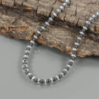 925 Sterling Silver Natural Hematite Gemstone Necklace Hematite Beads Jewelry December Birthstone Hematite Necklace Birthday Gift For Her | Natural genuine Gemstone jewelry. Buy crystal jewelry, handmade handcrafted artisan jewelry for women.  Unique handmade gift ideas. #jewelry #beadedjewelry #beadedjewelry #gift #shopping #handmadejewelry #fashion #style #product #jewelry #affiliate #ad