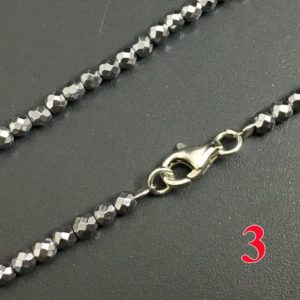 Shop Hematite Necklaces! Silver hematite beads jewelry, 3mm 4mm round faceted beads necklace jewelry, natural hematite beads, S925 clasper steel wire women jewelry   Natural genuine Hematite necklaces. Buy crystal jewelry, handmade handcrafted artisan jewelry for women.  Unique handmade gift ideas. #jewelry #beadednecklaces #beadedjewelry #gift #shopping #handmadejewelry #fashion #style #product #necklaces #affiliate #ad