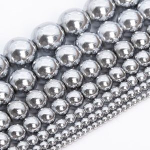 Silver Hematite Beads Grade Aaa Natural Gemstone Round Loose Beads 2mm 3mm 4mm 6mm 8mm 10mm 12mm Bulk Lot Options | Natural genuine round Hematite beads for beading and jewelry making.  #jewelry #beads #beadedjewelry #diyjewelry #jewelrymaking #beadstore #beading #affiliate #ad