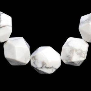 Shop Howlite Faceted Beads! 60 / 30 Pcs – 5-6MM Howlite Beads Star Cut Faceted Grade AAA Genuine Natural Gemstone Loose Beads (104236) | Natural genuine faceted Howlite beads for beading and jewelry making.  #jewelry #beads #beadedjewelry #diyjewelry #jewelrymaking #beadstore #beading #affiliate #ad
