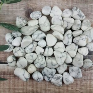 Shop Howlite Stones & Crystals! White Howlite Tumbled Stones, Reiki Infused Wire Wrapping Spiritual Stones   Natural genuine stones & crystals in various shapes & sizes. Buy raw cut, tumbled, or polished gemstones for making jewelry or crystal healing energy vibration raising reiki stones. #crystals #gemstones #crystalhealing #crystalsandgemstones #energyhealing #affiliate #ad