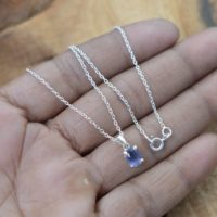 Blue Iolite 925 Sterling Silver Gemstone Jewelry Pendant W / Or W / o Chain | Natural genuine Gemstone jewelry. Buy crystal jewelry, handmade handcrafted artisan jewelry for women.  Unique handmade gift ideas. #jewelry #beadedjewelry #beadedjewelry #gift #shopping #handmadejewelry #fashion #style #product #jewelry #affiliate #ad