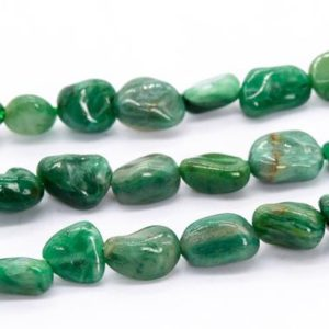 """Shop Jade Chip & Nugget Beads! 5-7MM African Jade Beads Pebble Chips Grade AA Genuine Natural Gemstone Loose Beads 15.5"""" / 7.5"""" Bulk Lot Options (115627) 