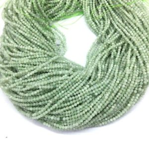 Shop Jade Faceted Beads! Tiny Burma Green Jade Micro Faceted Beads 2mm 3mm 4mm Natural Small Light Green Jadeite Gemstone Aqua Green Semi Precious Spacer Beads | Natural genuine faceted Jade beads for beading and jewelry making.  #jewelry #beads #beadedjewelry #diyjewelry #jewelrymaking #beadstore #beading #affiliate #ad