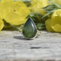 Nephrite Jade Ring, 925 Sterling Silver, Pear Shape, Green Color Stone, Simple Ring, Handmade Silver Gift Ring, Gemstone Gift, Sale Rings | Natural genuine Gemstone jewelry. Buy crystal jewelry, handmade handcrafted artisan jewelry for women.  Unique handmade gift ideas. #jewelry #beadedjewelry #beadedjewelry #gift #shopping #handmadejewelry #fashion #style #product #jewelry #affiliate #ad