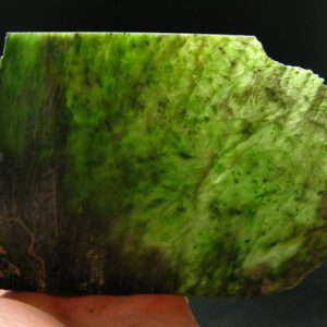 """Shop Jade Shapes! Nephrite Jade Slab From Russia – 6.5"""" – 145 Grams 