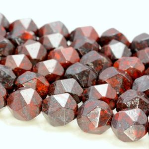 """Shop Jasper Faceted Beads! 8MM Brecciated Jasper Beads Star Cut Faceted Grade AAA Genuine Natural Gemstone Loose Beads 7.5"""" BULK LOT 1,3,5,10 and 50 (80005244 H-M22) 