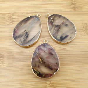 Nature Stone druzy Pendant natural gemstone pendant, Jasper pendant for women necklace , wholesale jewelry charm-TR164 | Natural genuine Gemstone jewelry. Buy crystal jewelry, handmade handcrafted artisan jewelry for women.  Unique handmade gift ideas. #jewelry #beadedjewelry #beadedjewelry #gift #shopping #handmadejewelry #fashion #style #product #jewelry #affiliate #ad
