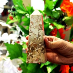 Shop Jasper Points & Wands! Large 6 Inches 4 Faceted 150MM Natural Yellow Cobra Jasper Stone Healing Metaphysical Meditation Power Obelisk Tower   Natural genuine stones & crystals in various shapes & sizes. Buy raw cut, tumbled, or polished gemstones for making jewelry or crystal healing energy vibration raising reiki stones. #crystals #gemstones #crystalhealing #crystalsandgemstones #energyhealing #affiliate #ad